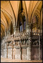 Sanctuary and vaults, Cathedral of Our Lady of Chartres,. France ( color)