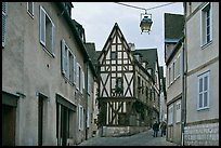 Street and half-timbered house, Chartres. France ( color)