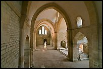 Church transept, Cistercian Abbey of Fontenay. Burgundy, France