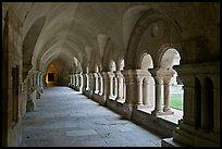 Cloister, Cistercian Abbey of Fontenay. Burgundy, France