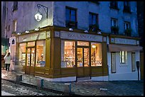 Bakery at dusk, Montmartre. Paris, France