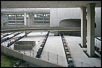 Concrete structures, Roissy Charles de Gaulle Airport. France (color)