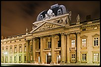 Ecole Militaire by night. Paris, France ( color)