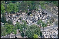 Montparnasse Cemetery from above. Paris, France