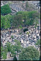 Aerial view of Montparnasse Cemetery. Paris, France