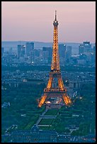 Eiffel Tower, Champs de Mars, La Defense seen from Tour Montparnasse. Paris, France ( color)