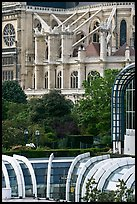 Detail of Forum des Halles and Saint-Eustache church. Paris, France
