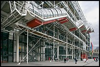 Beaubourg Center in the style of high-tech architecture. Paris, France