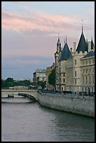 Conciergerie and Seine river. Paris, France