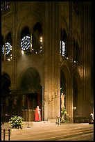 Cardinal reading and crossing of Notre-Dame cathedral. Paris, France