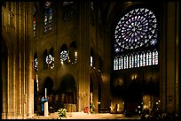 Crossing and south transept during mass. Paris, France