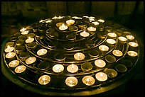 Circle of candles, Notre-Dame cathedral. Paris, France ( color)