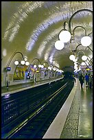 Glistening metro station. Paris, France ( color)