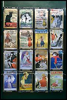 Reproduction of vintage advertising posters, Montmartre. Paris, France