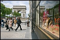 Jewelry store, sidewalk, and Arc de Triomphe. Paris, France ( color)