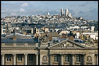 Classical building, Rooftops and Butte Montmartre. Paris, France