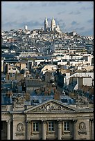 Rooftops and Montmartre Hill. Paris, France