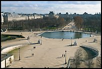 Tuileries garden in winter from above. Paris, France ( color)