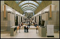 Interior of the Musee d'Orsay. Paris, France ( color)