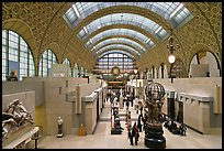 Orsay Museum, housed in the former railway station, Gare d'Orsay. Paris, France