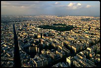Streets and Luxembourg Garden seen from the Montparnasse Tower. Paris, France ( color)