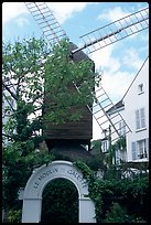 Moulin de la Galette, Montmartre. Paris, France (color)