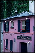 La Maison Rose, Montmartre. Paris, France