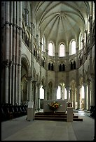 Apse of the Romanesque church of Vezelay. Burgundy, France