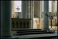 Altar inside of church of Vezelay. Burgundy, France