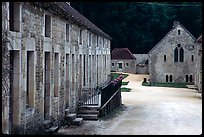 Abbaye de Fontenay, late afternoon (Fontenay Abbey). Burgundy, France