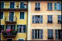 Houses painted in pastel colors, Nice. Maritime Alps, France ( color)