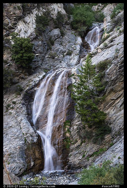 Lower tiers of San Antonio Falls. San Gabriel Mountains National Monument, California, USA