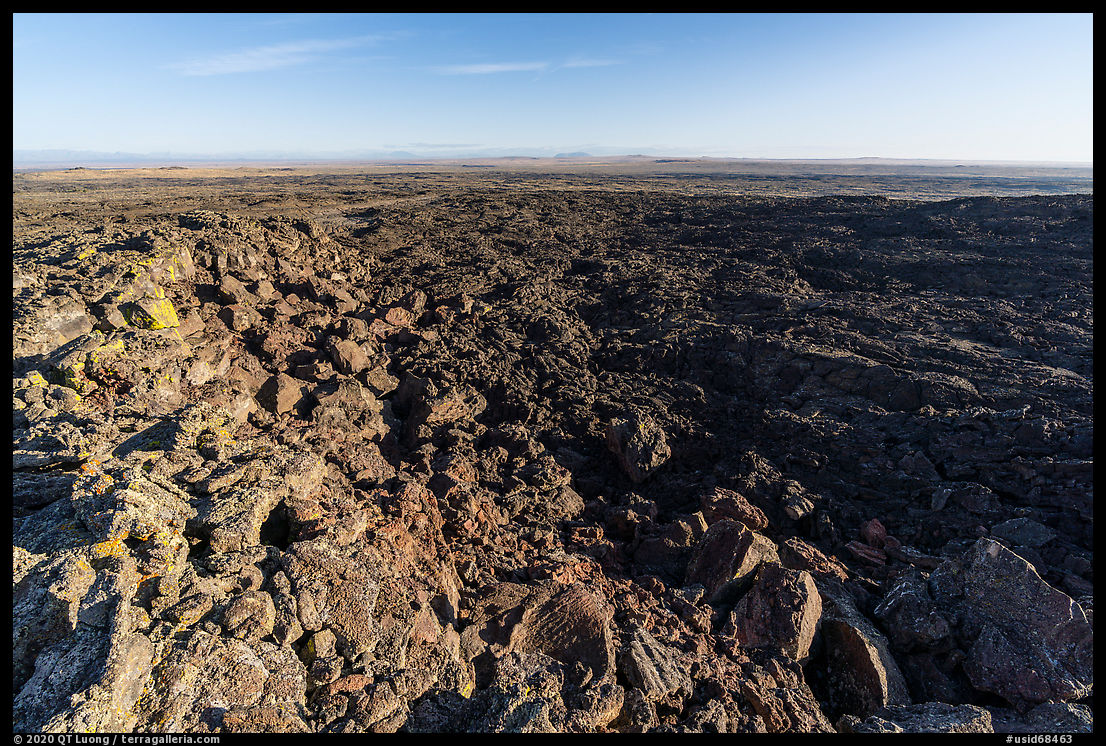Pilar Butte shield volcano with gigantic lava flow. Craters of the Moon National Monument and Preserve, Idaho, USA