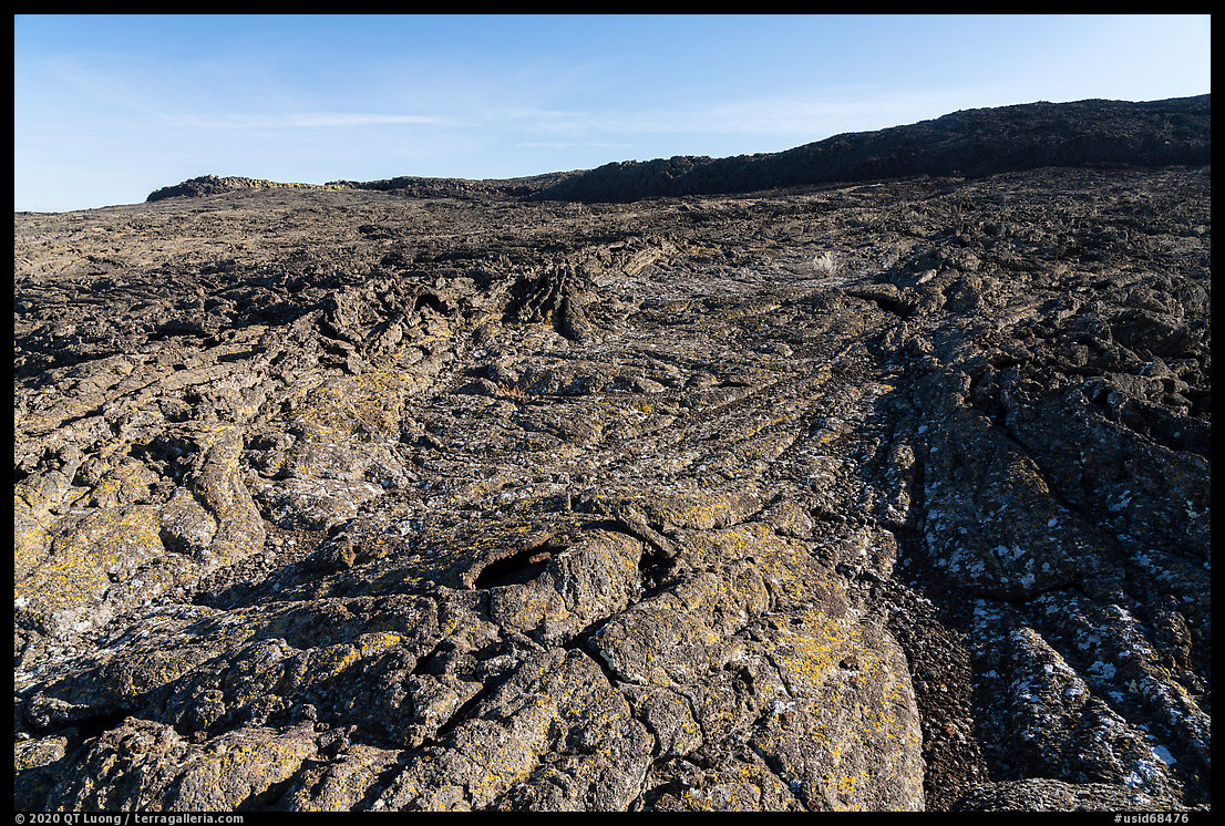 Wapi Flow Lava cascading from Pilar Butte. Craters of the Moon National Monument and Preserve, Idaho, USA