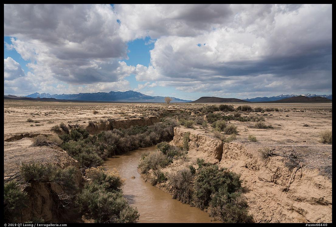 Eroded river canyon. Basin And Range National Monument, Nevada, USA