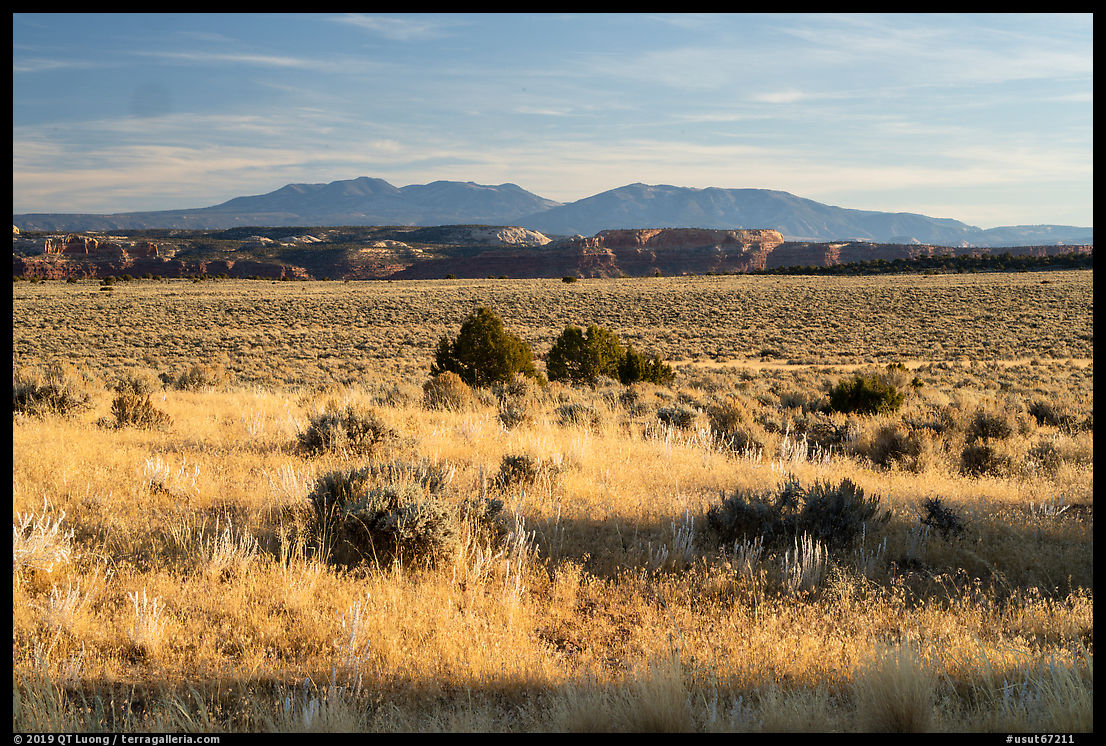 Hatch Point Plateau, cliffs and mountains. Bears Ears National Monument, Utah, USA