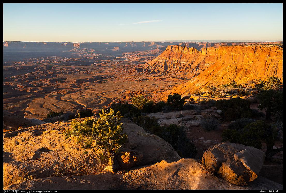 Lockart Basin and canyon rims, sunset. Bears Ears National Monument, Utah, USA