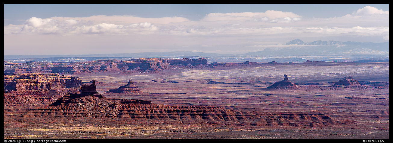 Distant view of Valley of the Gods. Bears Ears National Monument, Utah, USA