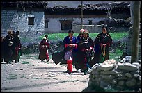 Group of villagers,  Zanskar, Jammu and Kashmir. India ( color)
