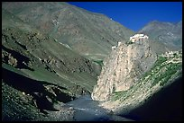 Bardan monastery at the entrance of Lungnak Valley, Zanskar, Jammu and Kashmir. India ( color)