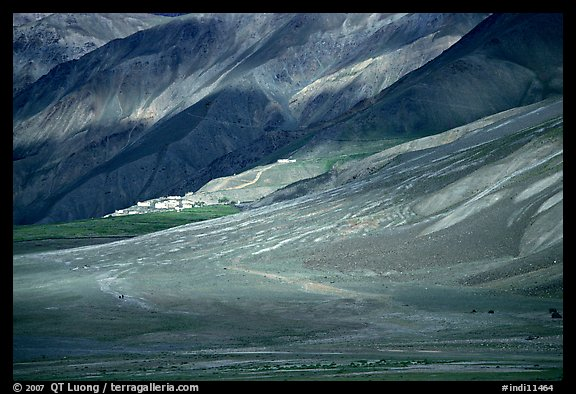 Lights and shadows, Karsha monastery, Zanskar, Jammu and Kashmir. India (color)