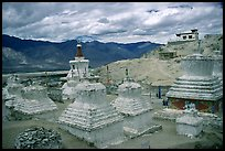 Chortens in monestary, Padum, Zanskar, Jammu and Kashmir. India ( color)