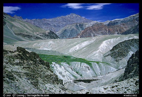Multi colored mountains, Zanskar, Jammu and Kashmir. India