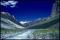 Zanskar River flanked by high cliff, Zanskar, Jammu and Kashmir. India ( color)