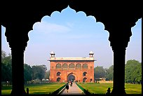 Naubat Khana seen through arches of Diwan-i-Am, Red Fort. New Delhi, India