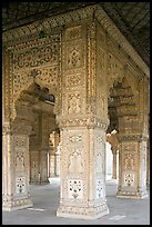 Decorated columns, Hammans, Red Fort. New Delhi, India