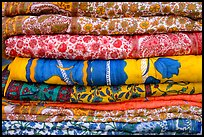 Fabrics for sale, Covered Bazar, Red Fort. New Delhi, India