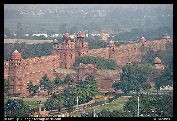 Red fort wall. New Delhi, India