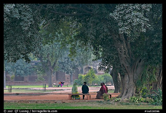 Gardens of Humayun's tomb. New Delhi, India (color)