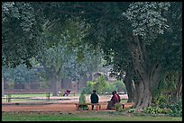 Gardens of Humayun's tomb. New Delhi, India ( color)